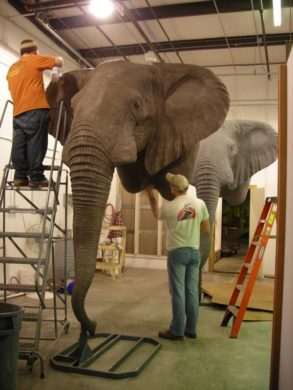Elephant Mount, Mounted Elephant